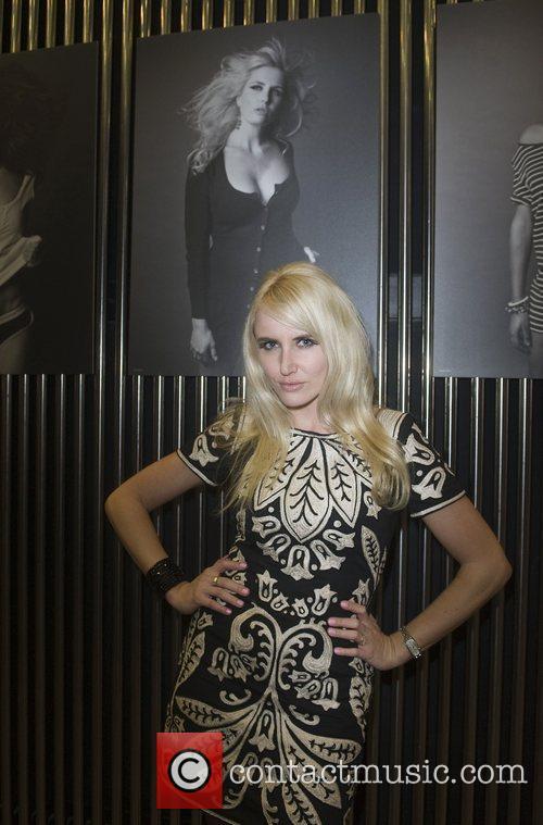 Fairtrade Fashion ambassador Nancy Sorrell stands by a...
