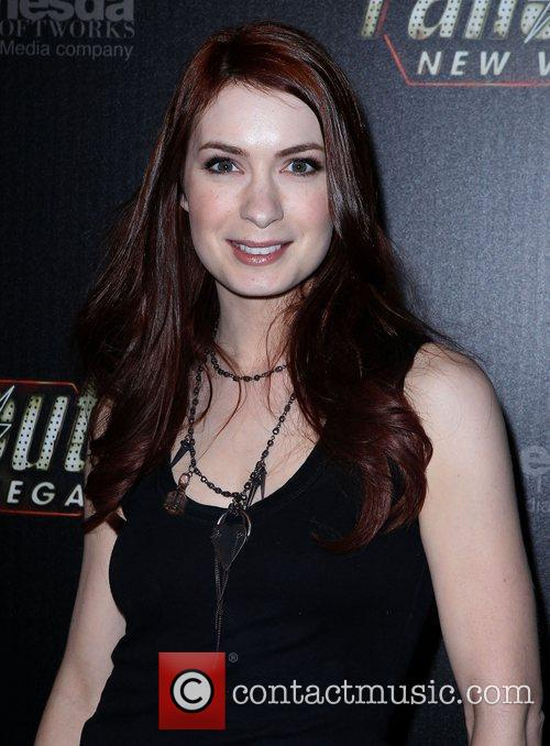 Felicia Day Hollywood Celebrities attend the launch of...
