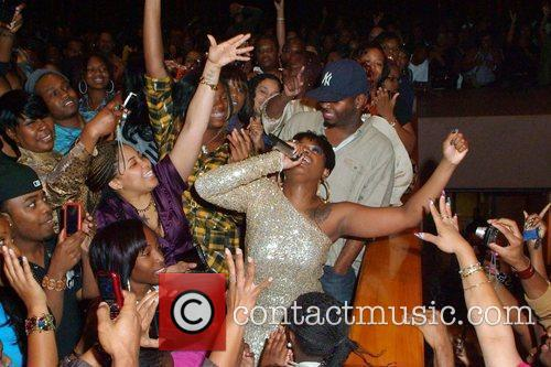 Fantasia performs in the crowd during her 'Back...