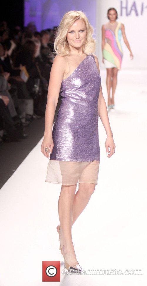 Actress Malin Ackerman Mercedes-Benz IMG New York Fashion...