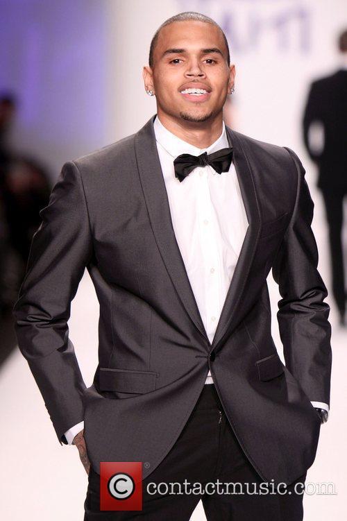 Singer Chris Brown Mercedes-Benz IMG New York Fashion...
