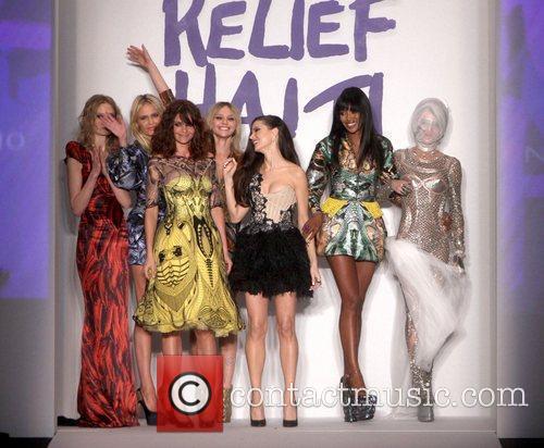 Supermodels Daphne Guinness, Karen Elson, Helena Christensen and...