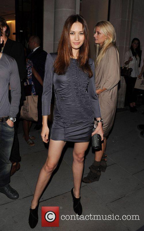Olga Kurylenko Various celebrities walking down New Bond...