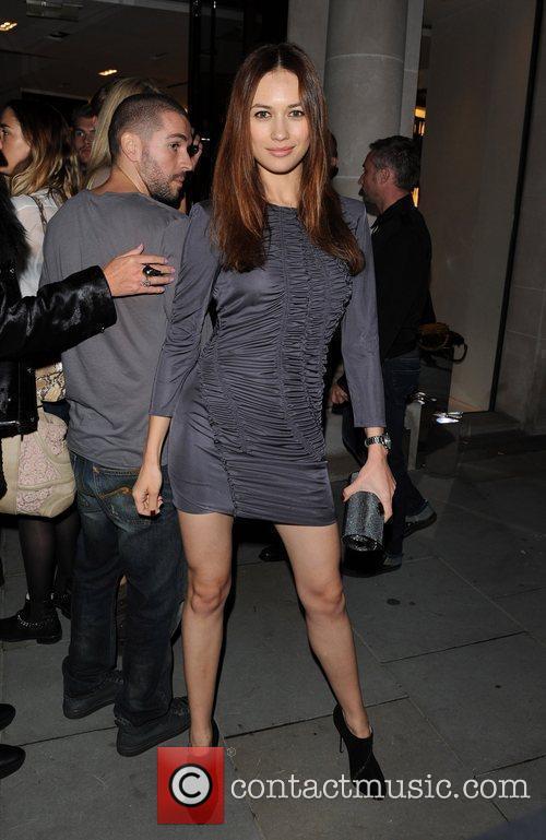 Various celebrities walking down New Bond Street during...