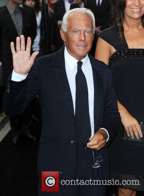 Giorgio Armani arriving at Fashion's Night Out at...