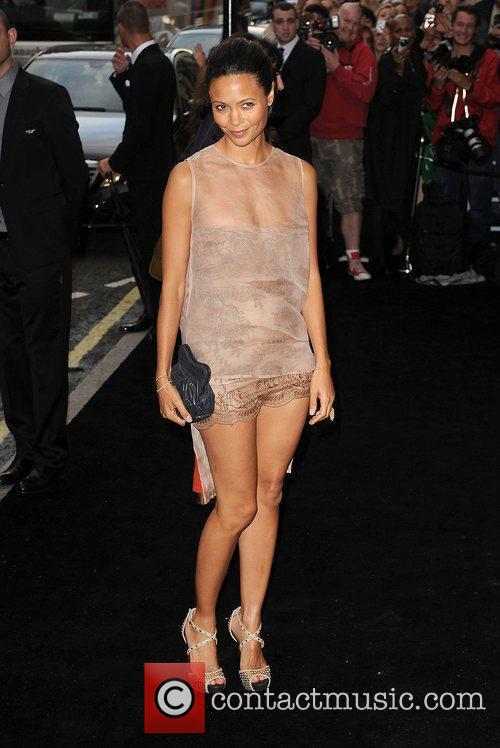Thandie Newton arriving at Fashion's Night Out at...