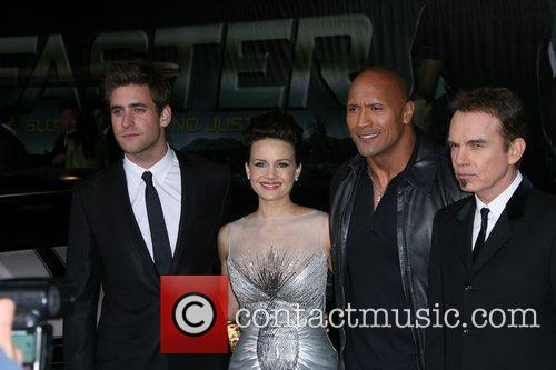 Oliver Jackson-cohen, Billy Bob Thornton, Carla Gugino and Dwayne Johnson 2