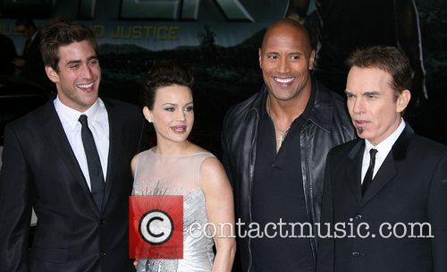 Oliver Jackson-cohen, Billy Bob Thornton, Carla Gugino and Dwayne Johnson 5