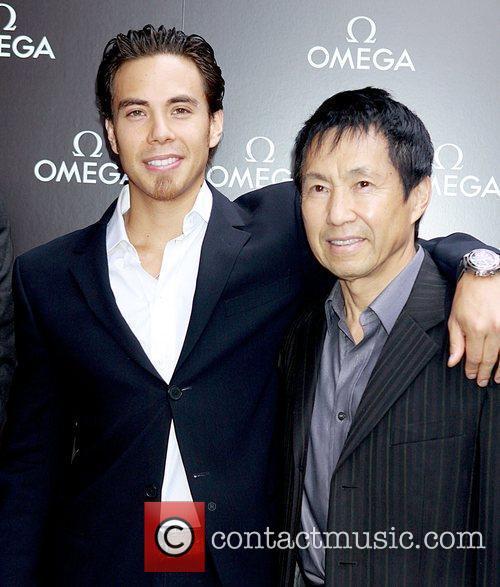Olympic gold medalist Apolo Ohno and father Yuki...