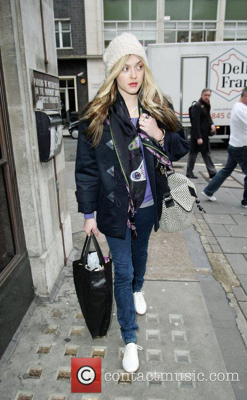Fearne Cotton arriving the BBC Radio 1 studios...