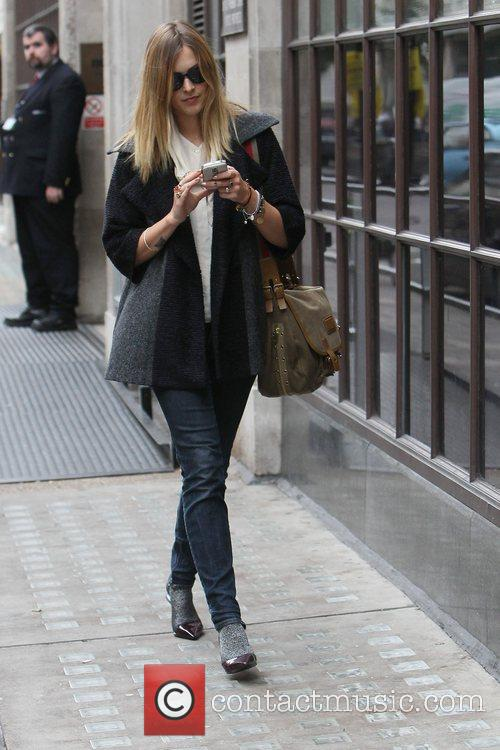 Fearne Cotton  outside the BBC Radio One...