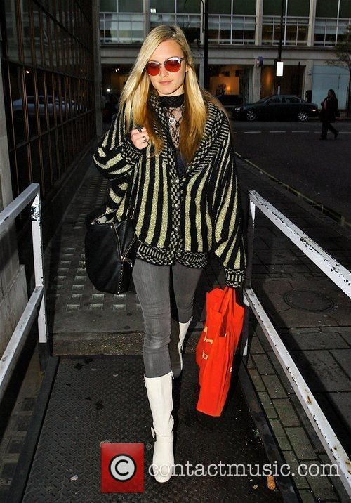 Fearne Cotton arrives at Radio One