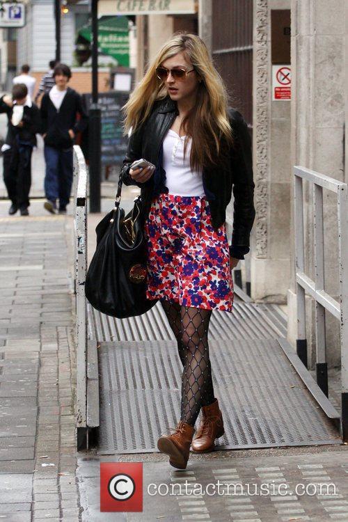Fearne Cotton seen leaving Radio 1 London, England