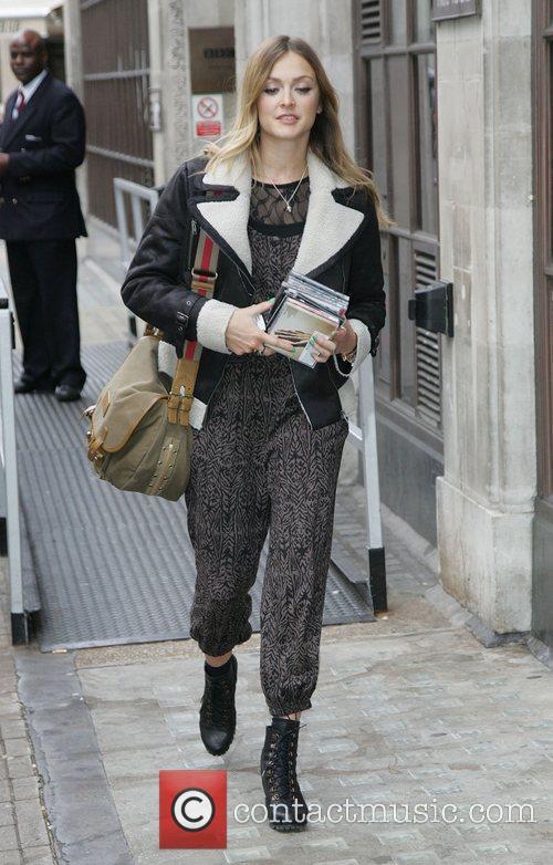 Fearne Cotton leaving the BBC Radio 1 studios...