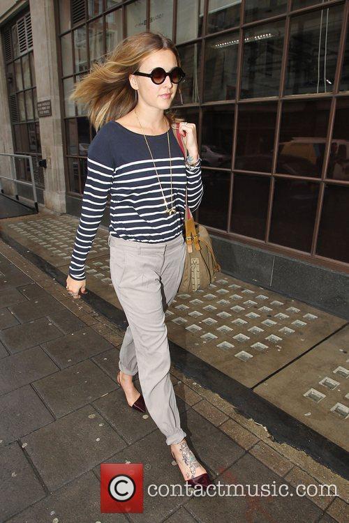 Fearne Cotton departing the BBC Radio 1 studios...