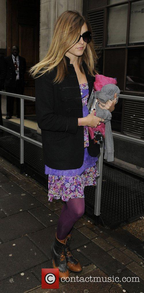 Fearne Cotton  leaving the Radio One studios....