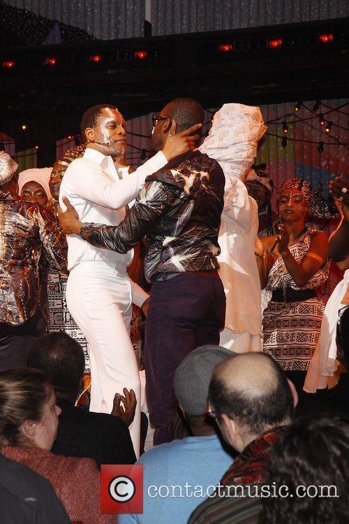 Closing night of the Broadway musical 'Fela!' at...