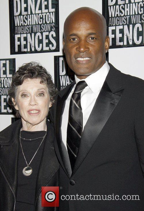 Carol Shorenstein Hayes and Kenny Leon pose for...