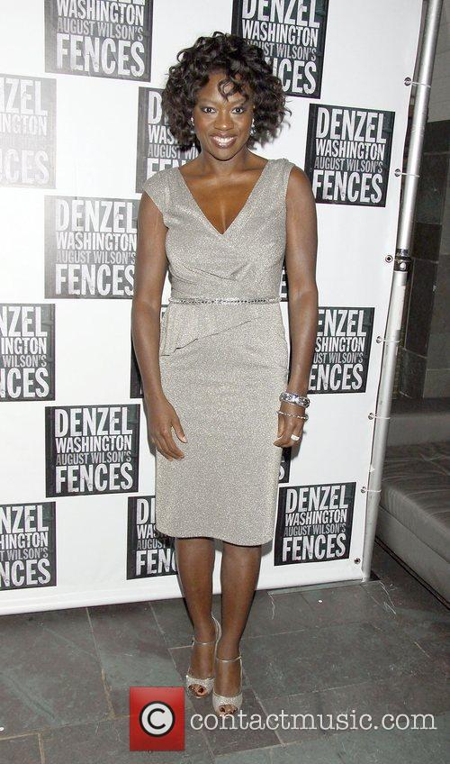 Viola Davis pose for photos at the Broadway...