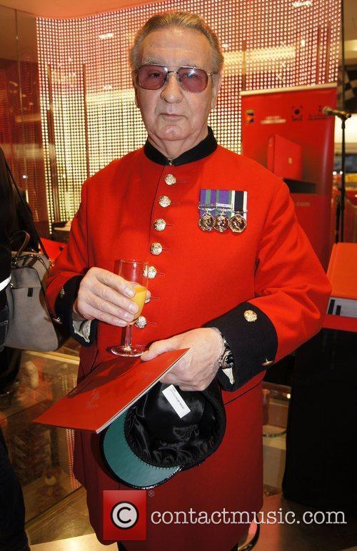 Chelsea Pensioner attends the Ferrari Opus Event at...