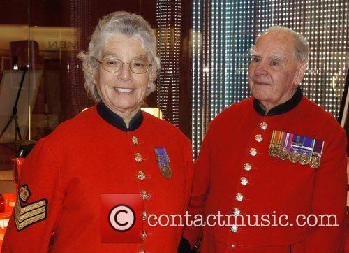 Chelsea Pensioners attend the Ferrari Opus Event at...