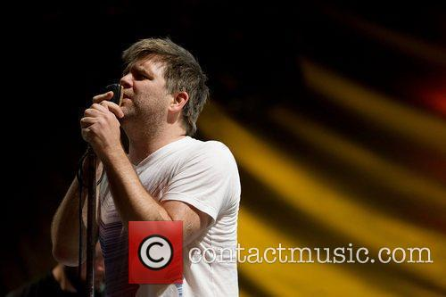 LCD SoundSystem performing at Optimus Alive! 2010 at...