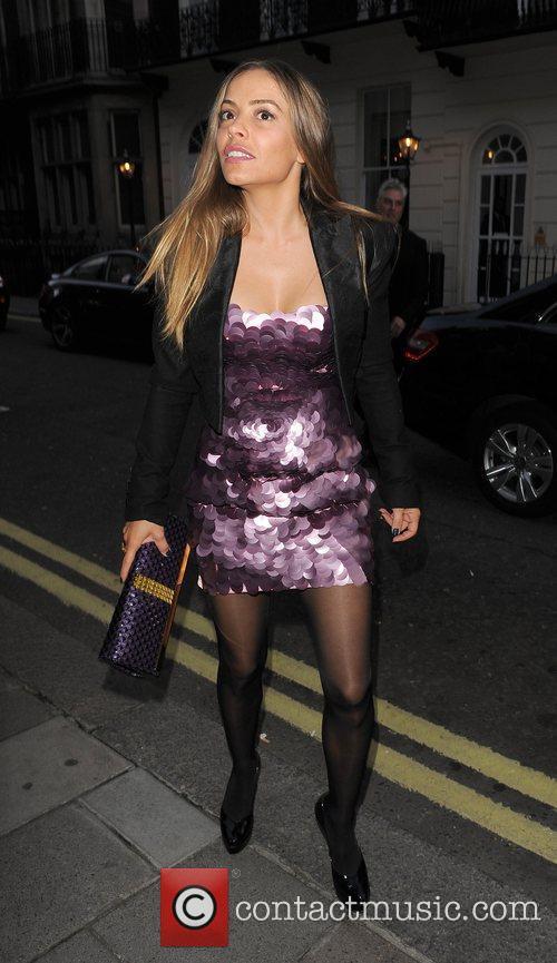 Elen Rivas, arriving at Lisa Byrne's 40th Birthday...