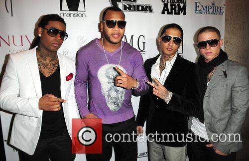 Flo Rida (C) and Git Fresh attends Flo...
