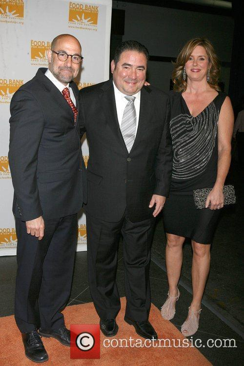 Stanley Tucci, Emeril Lagasse and his wife Alden...