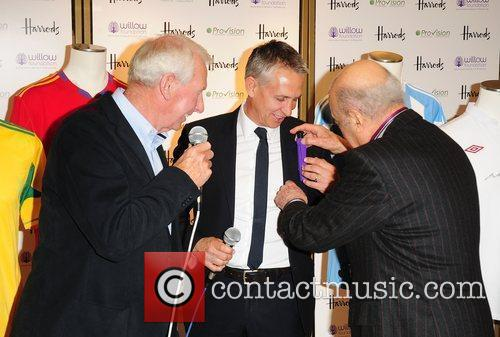 Bob Wilson, Gary Lineker and Mohamed Al-Fayed Launch...