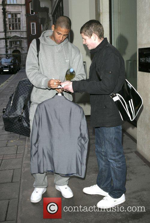 Curtis Davies Arriving At A Hotel 3