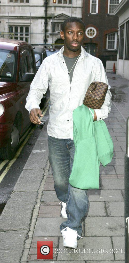 Shaun Wright-Phillips arriving at a hotel London, England