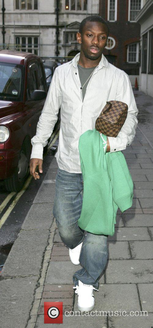 Shaun Wright-Phillips arriving at a hotel