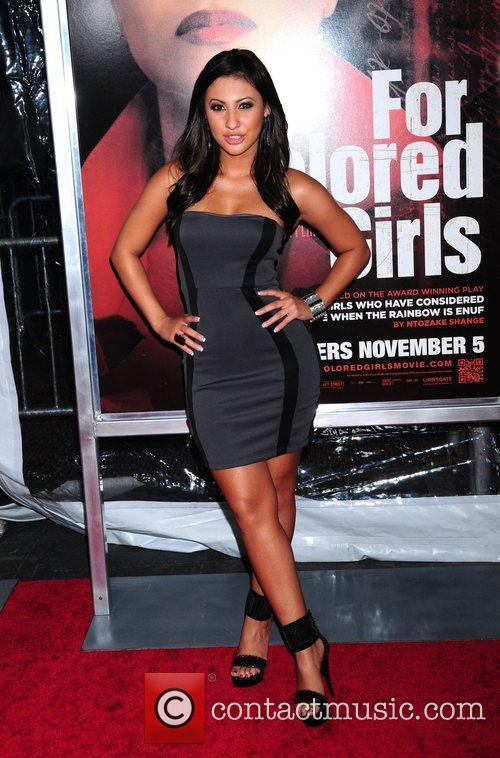 Francia Raisa NYC movie premiere of 'For Colored...
