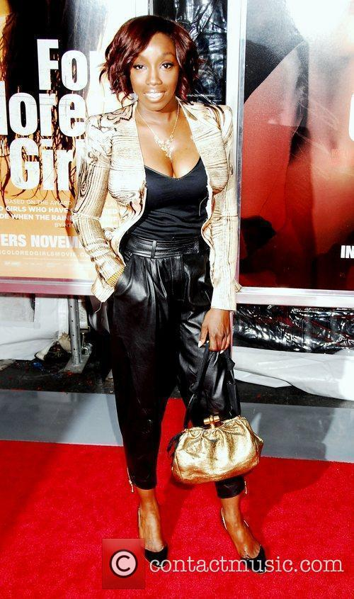 Estelle NYC movie premiere of 'For Colored Girls'...