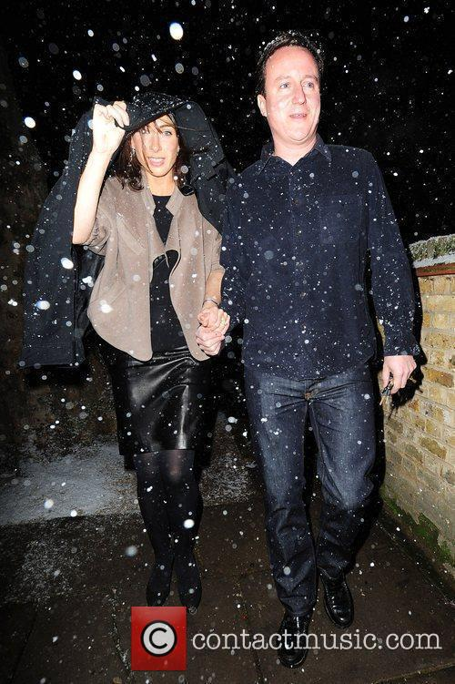 Samantha Cameron and David Cameron attend the Freud...