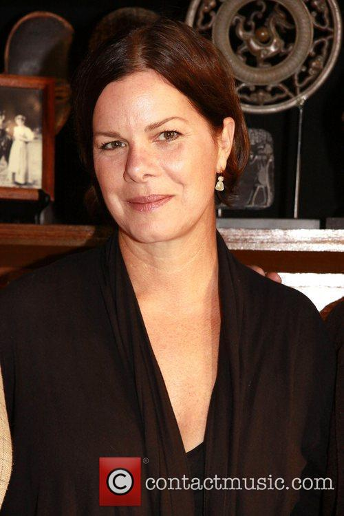 Marcia Gay Harden visits the cast of the