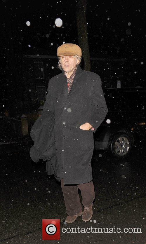 Bob Geldof attending the Freud Annual Christmas Party...