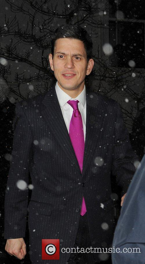David Miliband attending the Freud Annual Christmas Party...