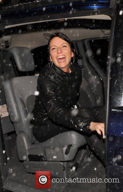 Davina McCall attending the Freud Annual Christmas Party...