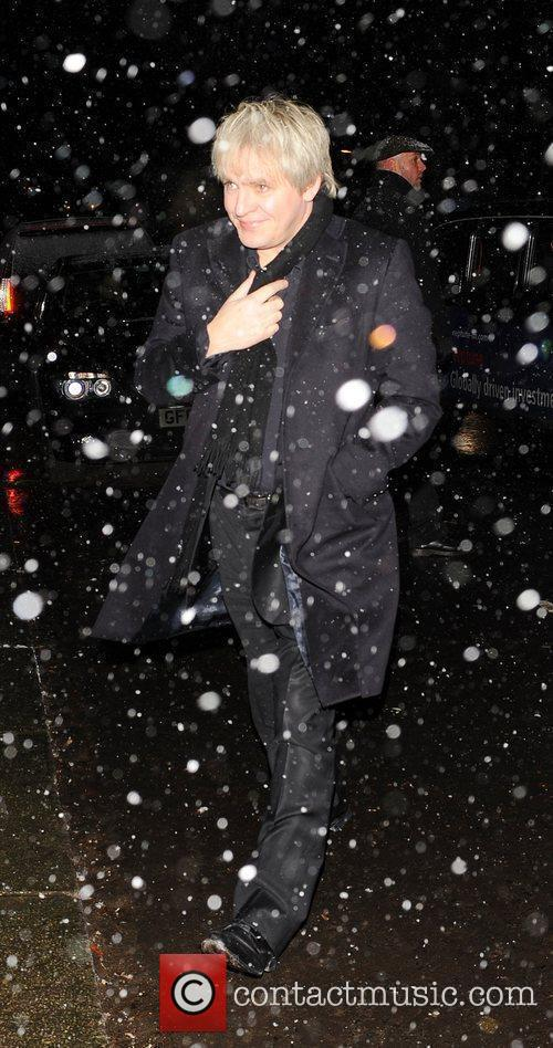 Nick Rhodes attending the Freud Annual Christmas Party...