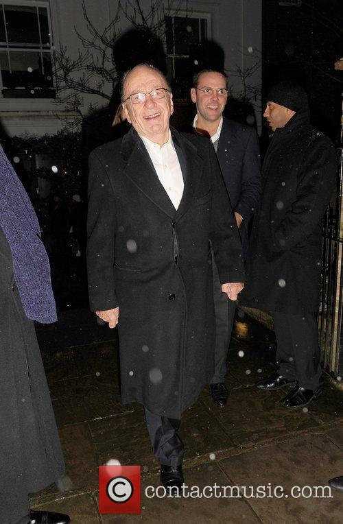 Rupert Murdoch attending the Freud Annual Christmas Party...