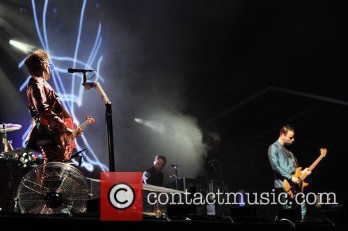 Performing at the 2010 Fuji Rock Festival in...