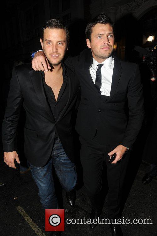Mark Wright and Guest attend a Christmas Party...