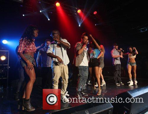X Factor evictees 'FYD' performing at G-A-Y London,...