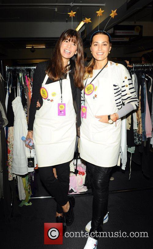 Lisa Bilton and Yasmin Le Bon attend the...