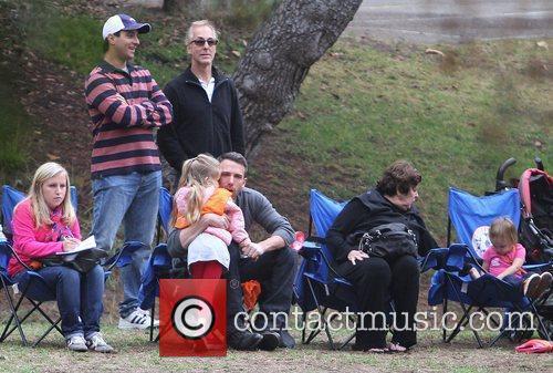 Ben Affleck enjoying a day in the park...