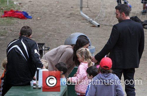 Jennifer Garner and Ben Affleck enjoying a day...