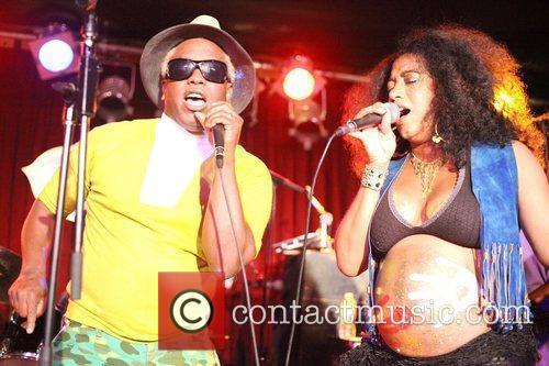 Corey Glover of Living Colour and Sophia Ramos...