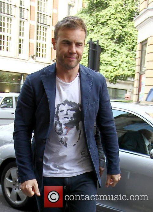Gary Barlow as he arrives at the BBC...